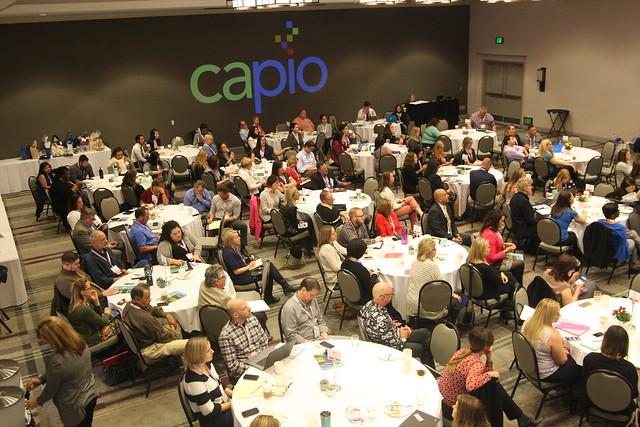 Conference attendees at lunch during 2018 CAPIO Conference